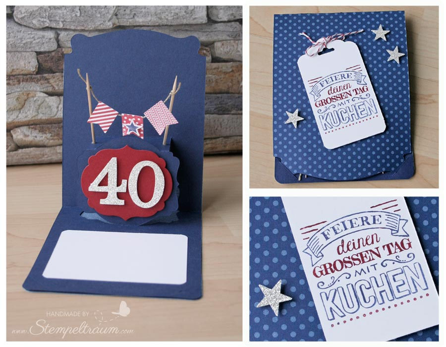 Stampin Up, 40. Geburtstag, Pop ´n Cuts