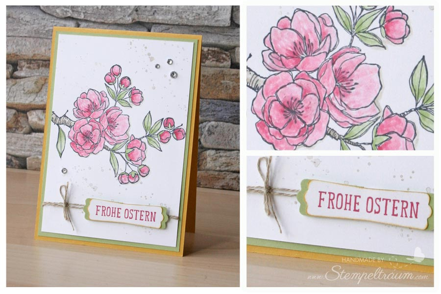 "stampin up Osterkarte ""Frohe Osterbotschaft"""