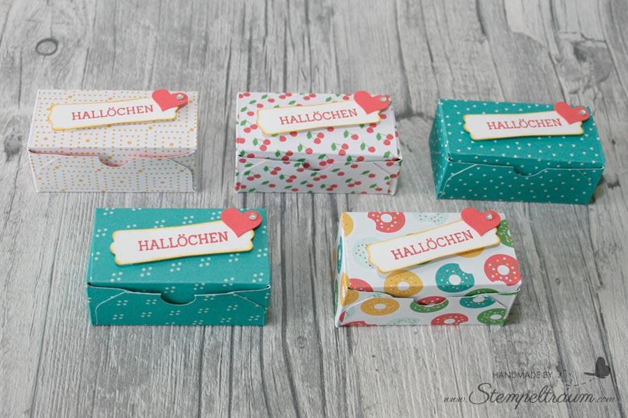 Stampinup Goodie - Schachtel mit dem Falzbrett für Umschläge