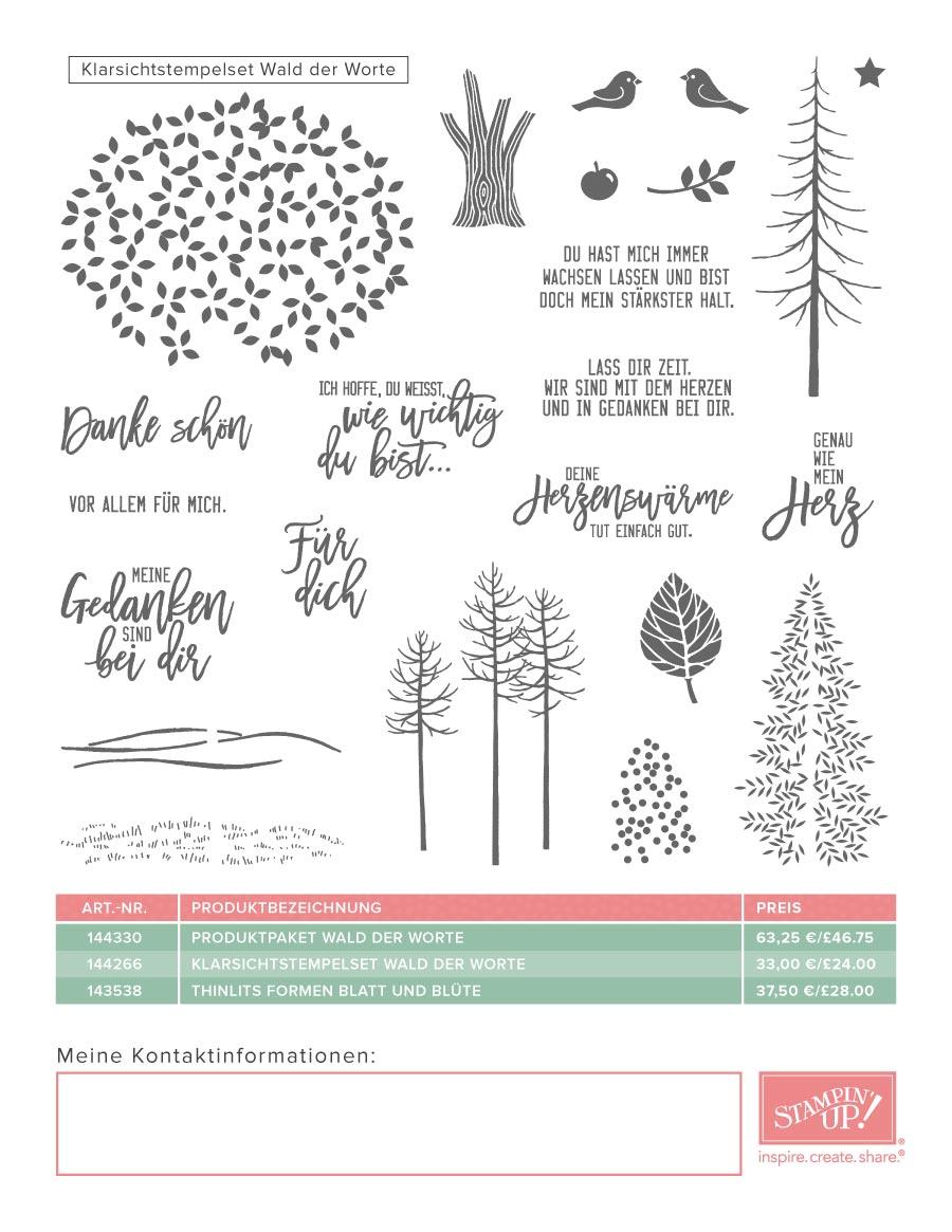 stampin up Wald der Worte