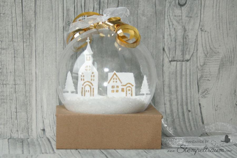Weihnachtskugel Winterstädtchen