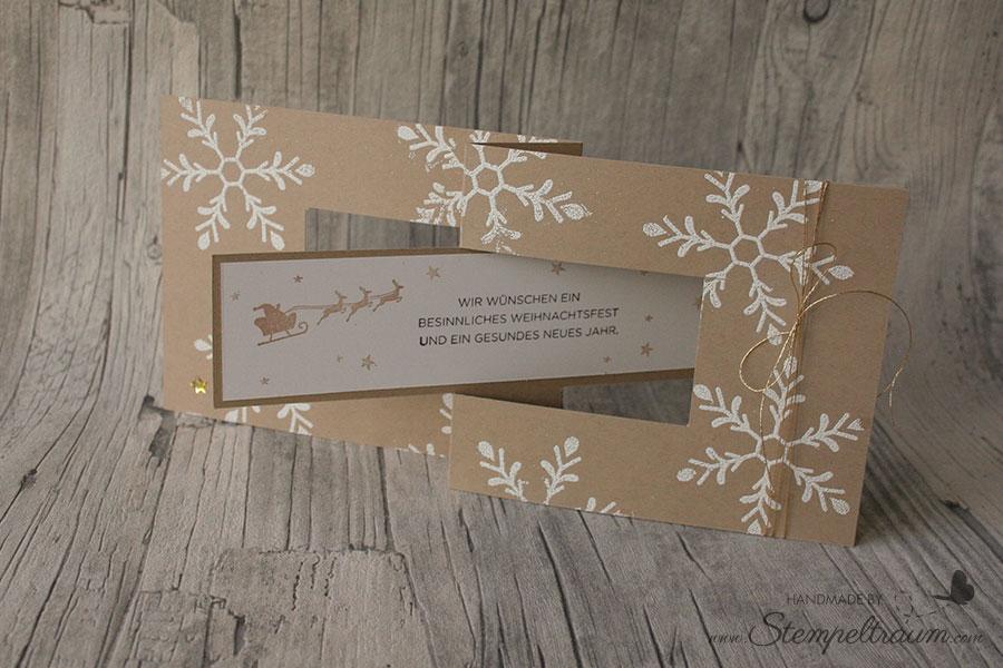 """Weihnachtskarte mit """"Dreh"""", erstellt mit Produkten von Stampin Up"""