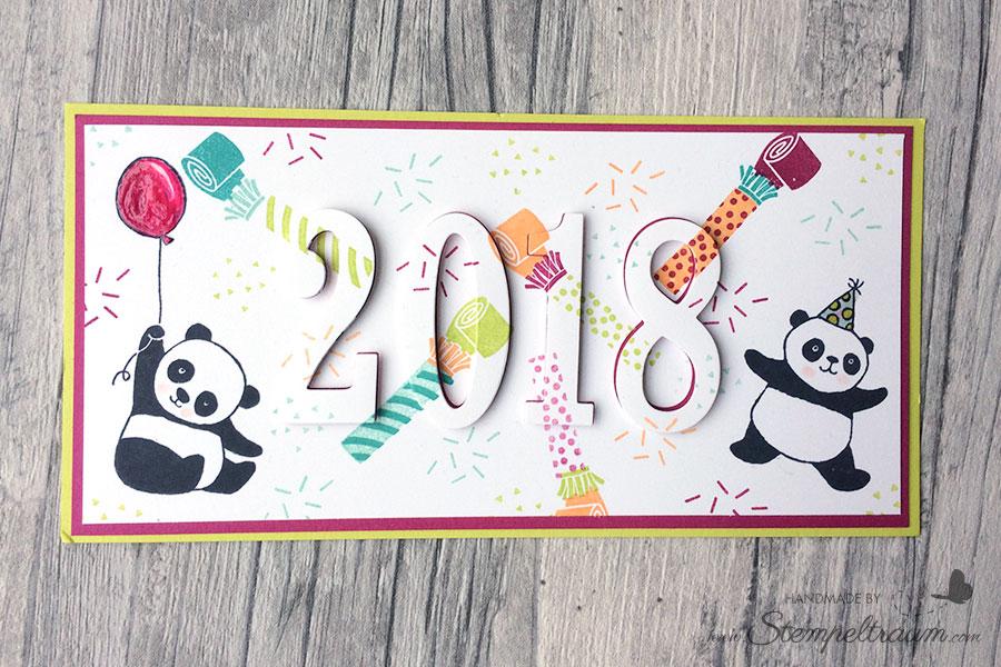 """Karte mit dem Set """"Party Pandas"""" sowie """"Perfekter Geburtstag"""" von Stampin Up"""