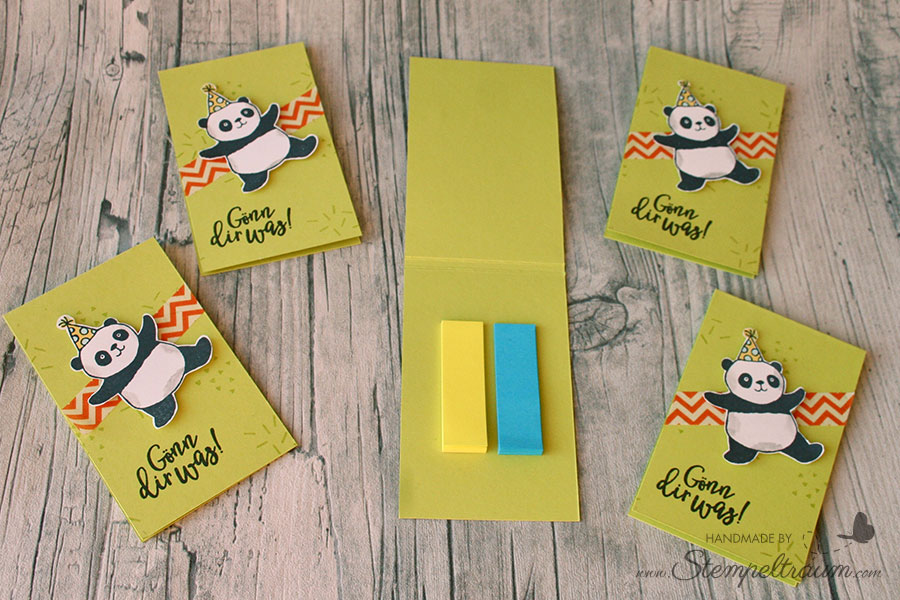 Stampin Up Goodie mit den Party Pandas