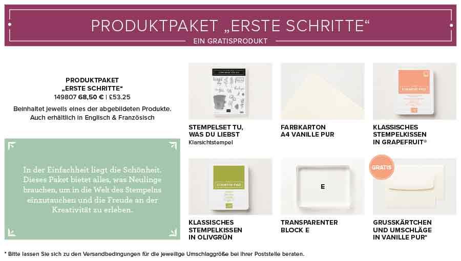 Produktpaket Erste Schritte