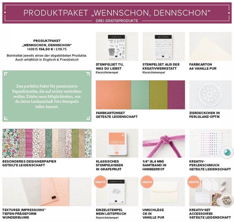 Produktpaket: Wennschon dennschon