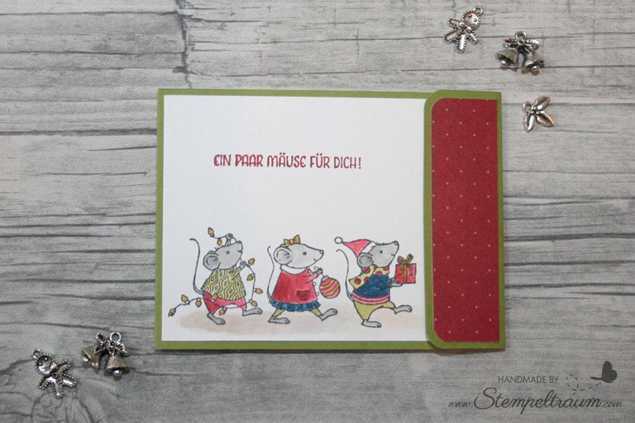 Stampinup Weihnachtsmäuse