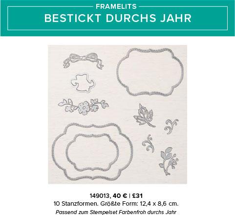 """Framelits """"Bestickt durchs Jahr"""""""
