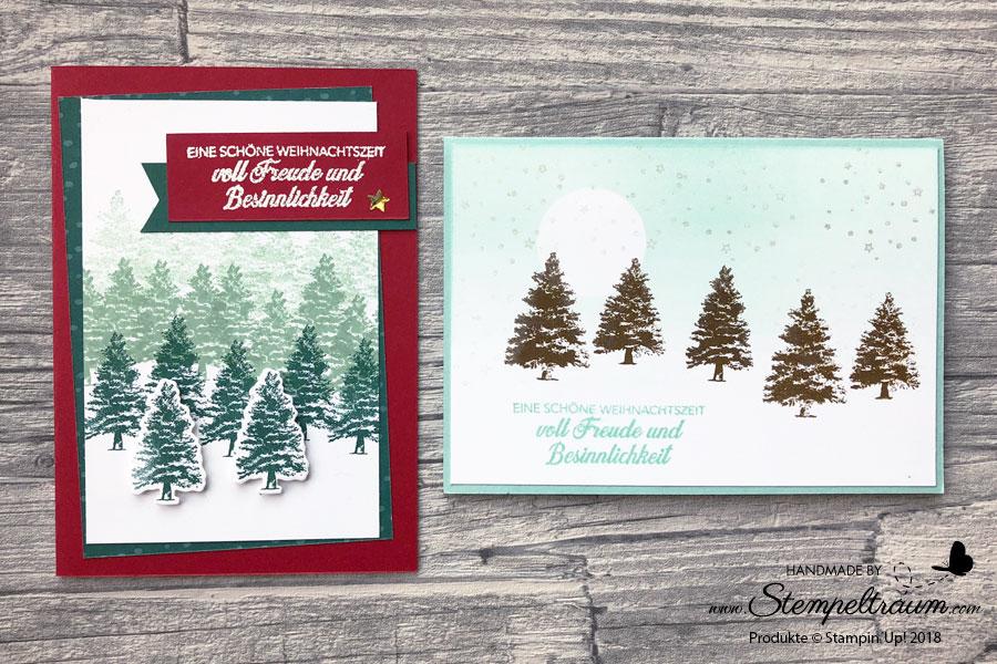 """Weihnachtskarte mit dem Set """"Kraft der Natur"""""""