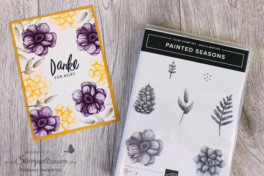 Karte mit dem Stempelset Painted Seasons