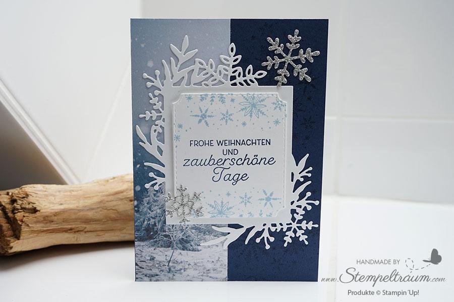 """Weihnachtskarte erstellt mit der Produktreihe """"Winterzauber"""" von Stampin´Up!"""