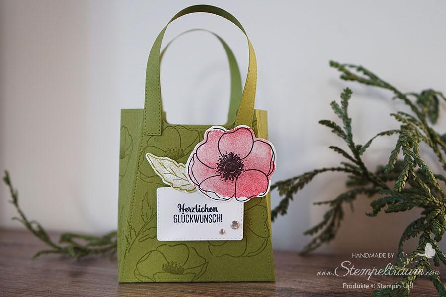 Handtasche erstellt mit den Stanzformen So Stilvoll von Stampin´Up!