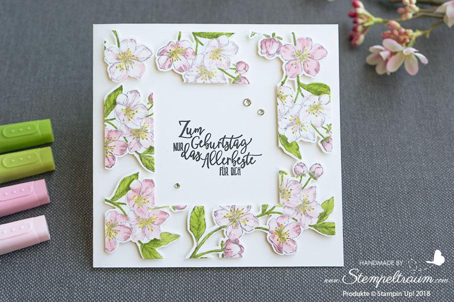 Floating Card mit dem Set Ewige Blüten