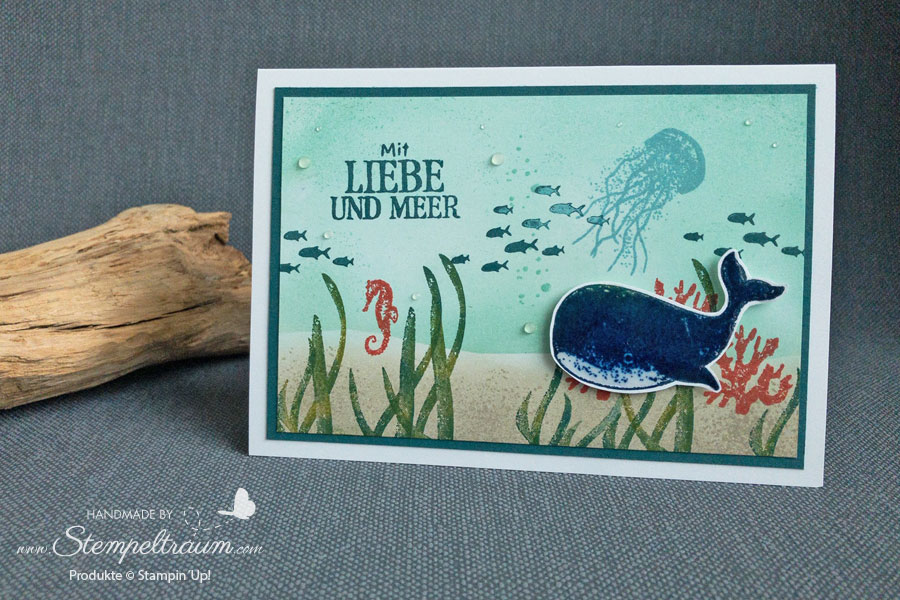 Karte mit dem Stempelset Fantastfisch von Stampin´Up!