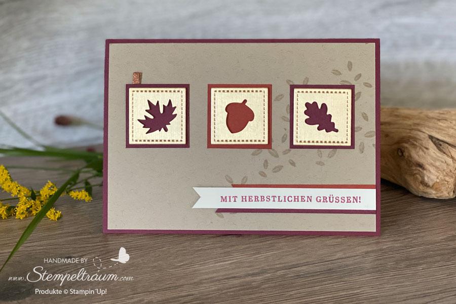 Grußkarte mit dem Stempelset Schöner Herbst von Stampin´Up!