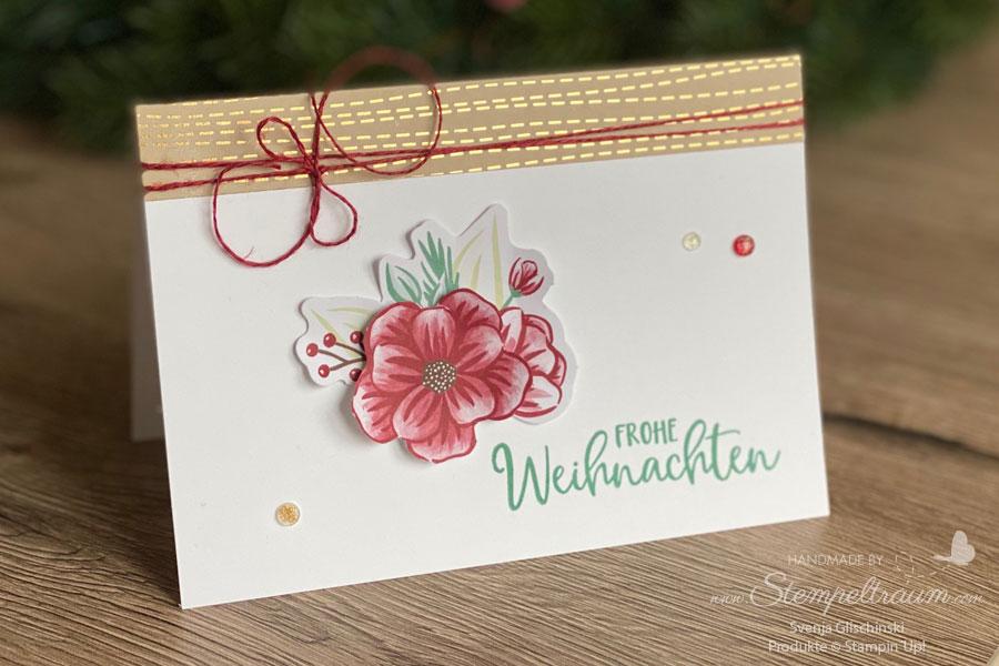 Weihnachtskarte mit dem Paper Pumpkin Set Feiertage voller Freude