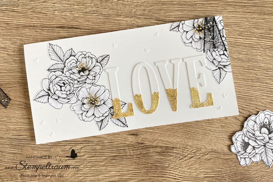 Valentinskarte mit Stampin´Up! Produkten.