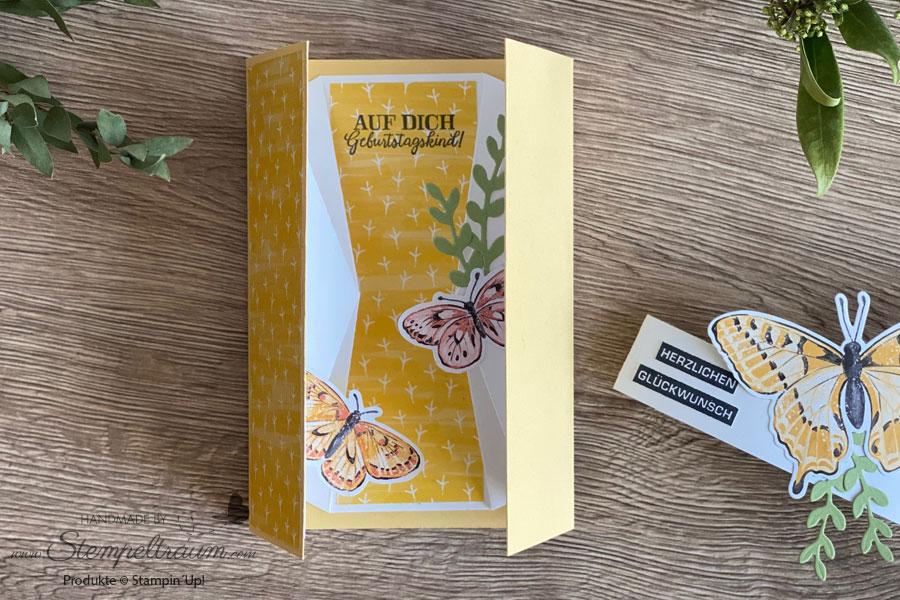 Double-diamond-pop-up-Karte mit der Produktreihe Butterfly Brilliance