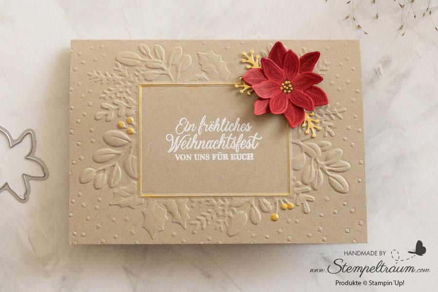 Weihnachtskarte mit dem Produktpaket Fröhliche Weihnachtszeit von Stampin´Up!.