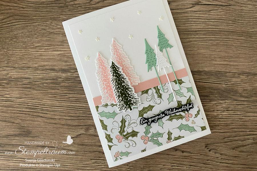 Weihnachtskarte mit den